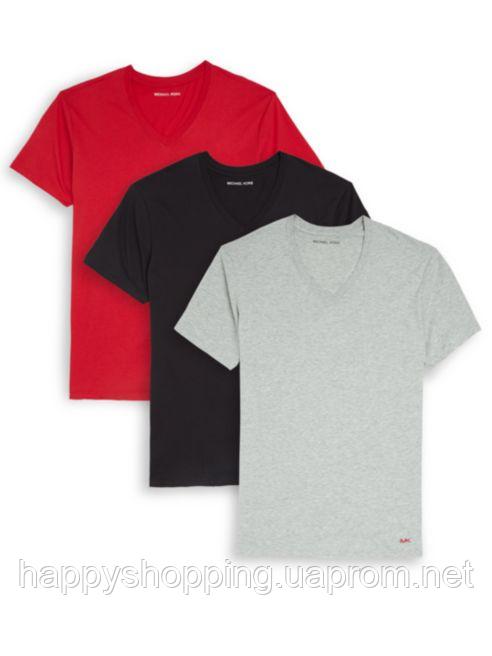 Оригинальный набор разноцветных мужских футболок популярного бренда Michael Kors