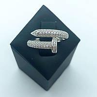 Кольцо из серебра в стиле картье Juste Un Glow белые камни (размер 17 ), фото 1