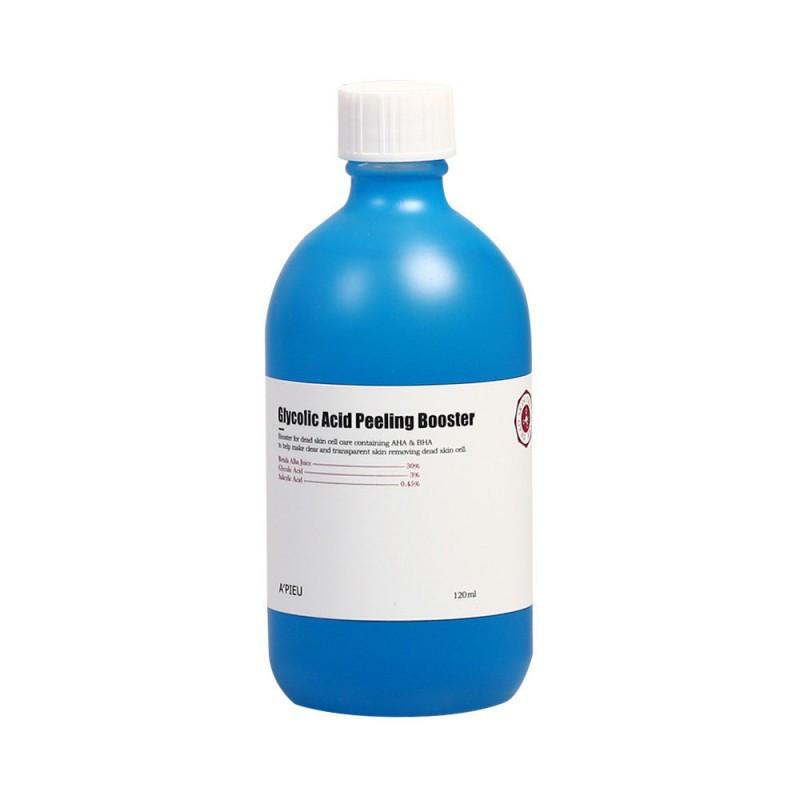 Бустер для лица c AHA и BHA-кислотами A'PIEU GLYCOLIC ACID PEELING BOOSTER, 120 мл