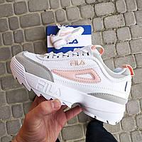 5e1065f5 Женские кроссовки Fila Disruptor 2 White/Grey/Pink : продажа, цена в ...