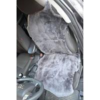 Авто чехол из натуральной цельной коже цегейки майка серый