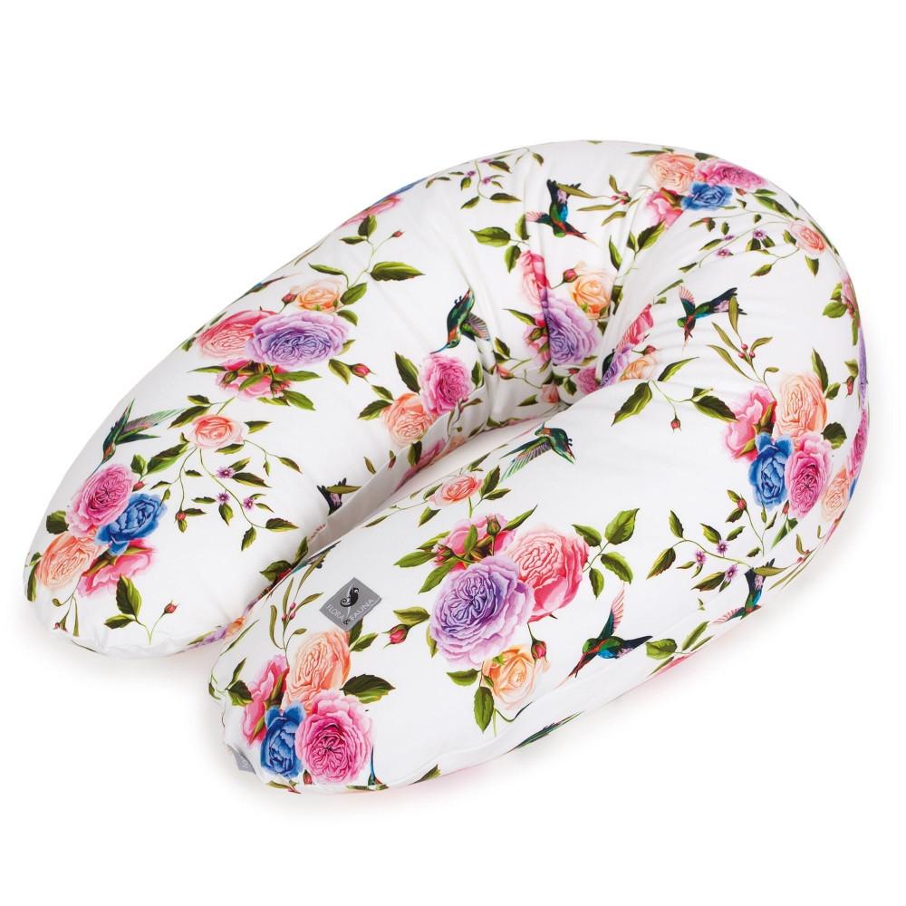Багатофункціональна подушка для вагітних Cebababy Physio Multi Flora & Fauna Flores