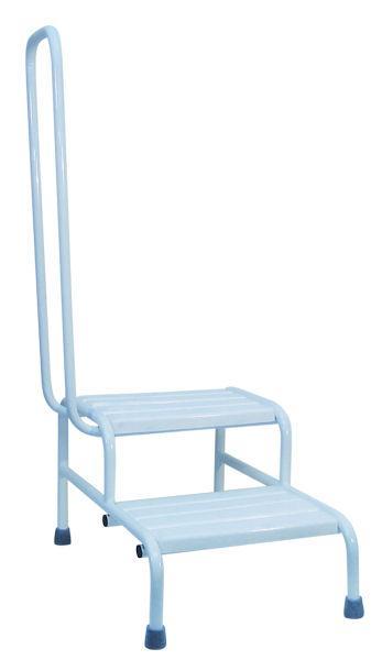 Ступеньки для ванной для инвалидов с поручнем НТ-08-002
