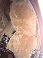 Авто чехол из натуральной цельной коже цегейки майка карамель