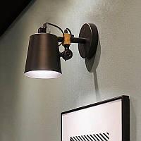 Нордический  светильник Loft [ Black & wood dense ], фото 1