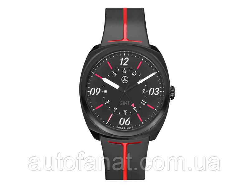 Мужские наручные часы Mercedes-Benz Men's Watch, Sporty GMT, Black / Red / White (B66953568)