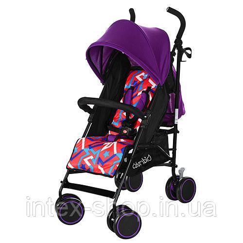 Коляска для детей BAMBI M 3423-1 прогулочная трость (фиолетовая)
