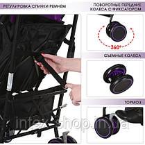 Коляска для детей BAMBI M 3423-1 прогулочная трость (фиолетовая), фото 3