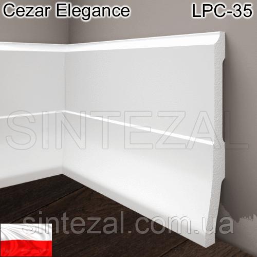 Высокий фигурный плинтус Cezar Elegance LPC-35, H=160 мм.