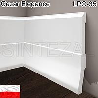 Высокий фигурный плинтус Cezar Elegance LPC-35, H=160 мм., фото 1