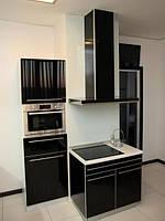 Кухни крашеные фасады с алюминевой рамкой