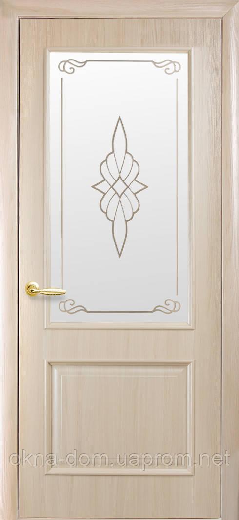 Двери межкомнатные Новый Стиль Вилла (со стеклом сатин и рисунком)