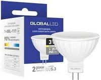 LED лампа GLOBAL MR16 3W теплый свет GU5.3 (1-GBL-111)