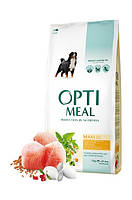 "Optimeal ""Курица"". Пакет. Сухой корм для собак больших пород. 12кг."