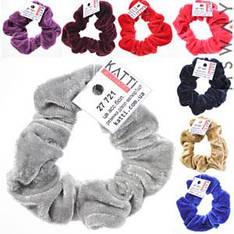 KATTi Резинка для волос 27 721 большая Велюр жатая цветная (8 цветов) Ш3Д8