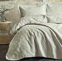 Покривало з наволочками 240х260 Cotton box Soft Mavi