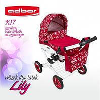 Коляска для кукол Adbor Lily Красный (Цветы)