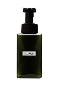 Дозатор диспенсер для жидкого мыла с функцией создания пены FOAMER 450мл темно-зеленый
