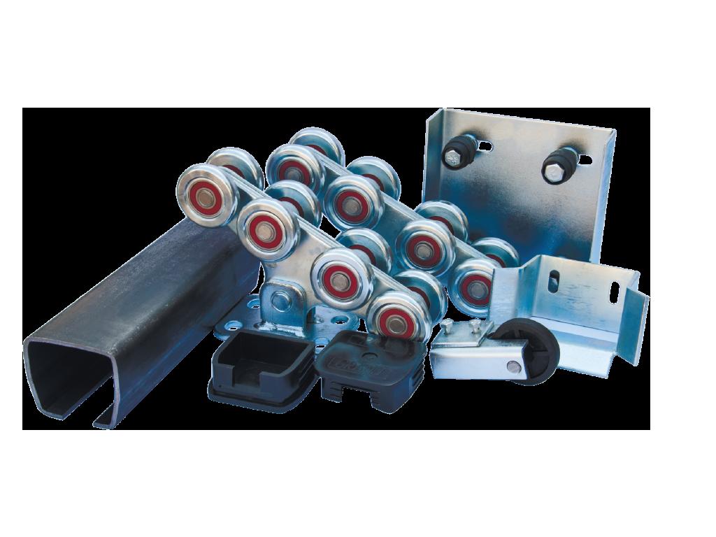 Комплект фурнитуры для откатных ворот до 800 кг, до 10 м. С металлическими роликами. ROLL GRAND (Украина) .