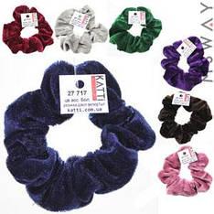 KATTi Резинка для волос 27 717 большая Велюр жатая цветная (7 цветов) Ш3Д9