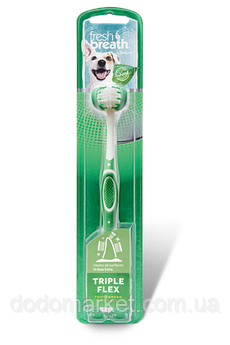 Зубная щетка для собак  Tropiclean TripleFlex