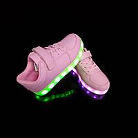 Кроссовки светящиеся детские Pink W20