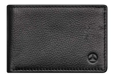 Кожаное портмоне Mercedes-Benz Mini Wallet, Cowhide, Black, RFID Protection