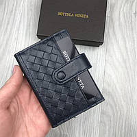 Трендовый бумажник Bottega Veneta синий кожа Люкс Качество портмоне Новинка 2019 года Боттега Венета копия, фото 1