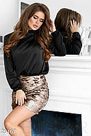 Женская блуза из шелка Армани черная