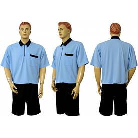 Форма судейская  короткий рукав голубо-черная