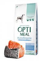 """Optimeal """"Лосось"""". Пакет. Сухой, гипоаллергенный корм для собак больших пород. 12кг."""