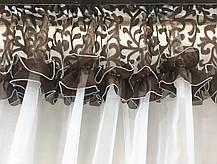 """Кухонные шторы """"Люсси"""" Шоколадный Завиток, фото 2"""