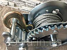 ✔️ Лебедка с крепкой стальной конструкцией - 1200 фунтів/800 кг, фото 3