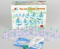 Вакуумные массажные банки Набор 12 шт с насосом антицеллюлитные NX, фото 1