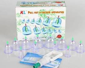 Вакуумные массажные банки Набор 12 шт с насосом антицеллюлитные NX