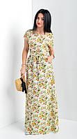 Длинное женское платье большого размера на лето . Размеры 44 - 60