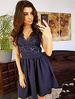 Летнее молодежное платье с пышной юбкой