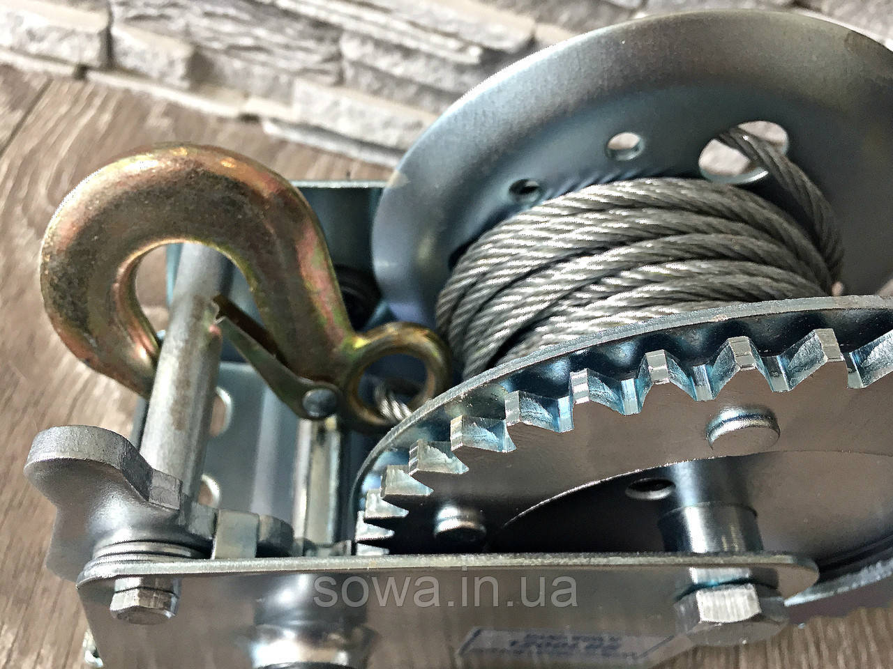 ✔️ Лебедка Автомобильная, барабанная  1200 фунтів/800 кг ( с крепкой стальной конструкцией )