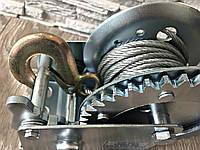 Лебедка Автомобильная, барабанная 1200 фунтів/800 кг ( с крепкой стальной конструкцией )