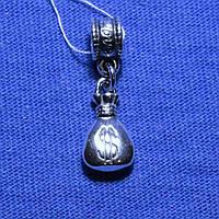 Серебряный шарм Мешок с Деньгами 826-ч, фото 1