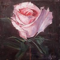 "Картина ""Рожева троянда"""