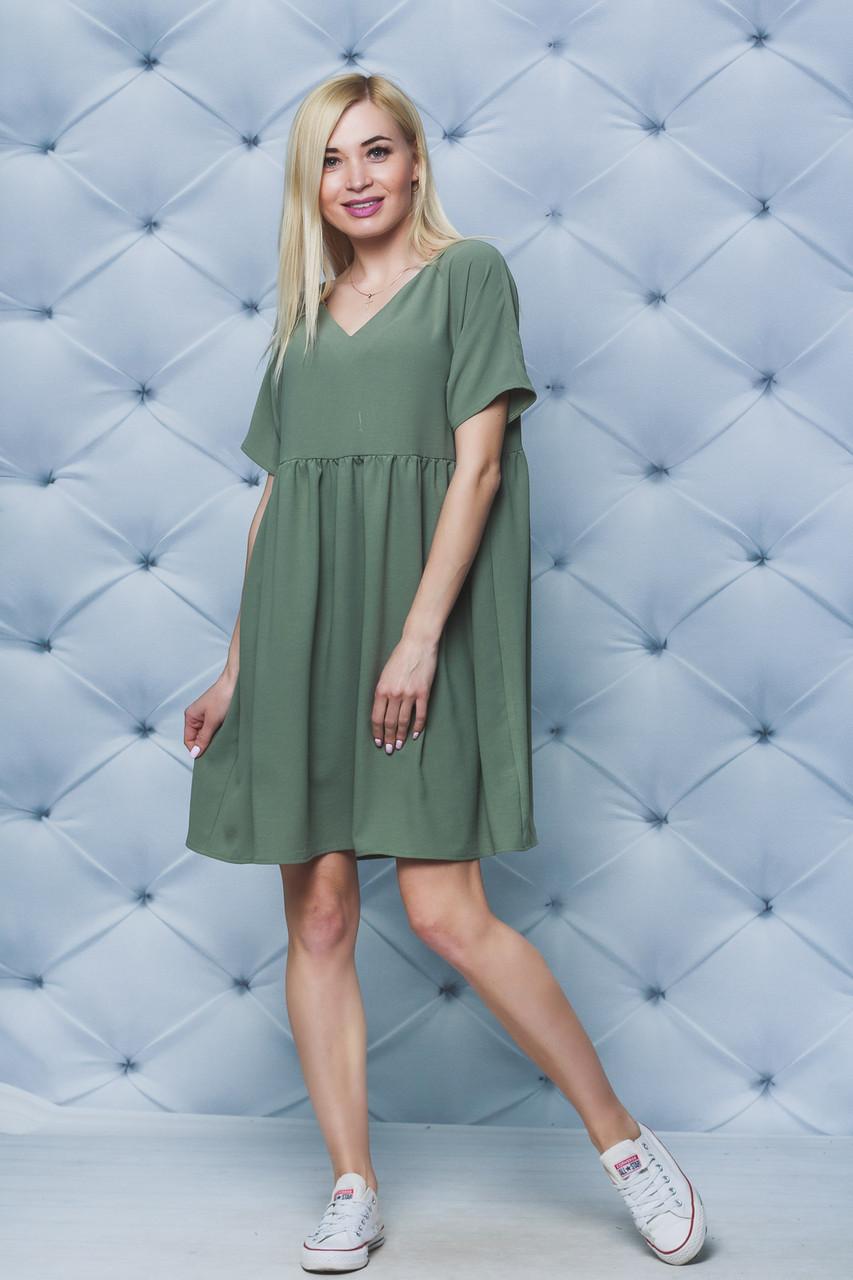 Платье летнее oversize олива