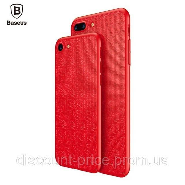 "Пластиковая накладка Baseus Plaid Ultrathin для Apple iPhone 7 (4.7"") Красный (00000019415_13)"