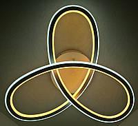 Люстра потолочная LED с пультом (13х55х55 см.) Белый матовый YR-A9996/3