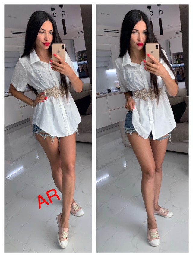 женская рубашка с декором