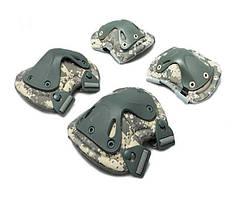 Защитный тактический комплект для боевых действий X-type, наколенники/налокотники, 3 цвета