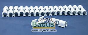 Зажим пластиковый для крепления покрывного материала на дугах для теплиц (цена за 1 шт.) ZAP1218