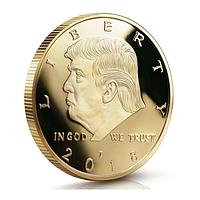 Сувенирная монета Президент США Дональд Трамп золотая