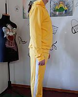 Костюм спортивный на молнии мужской хлопок Костюм з двонитки однотонний з лампасами різні кольори бавовна