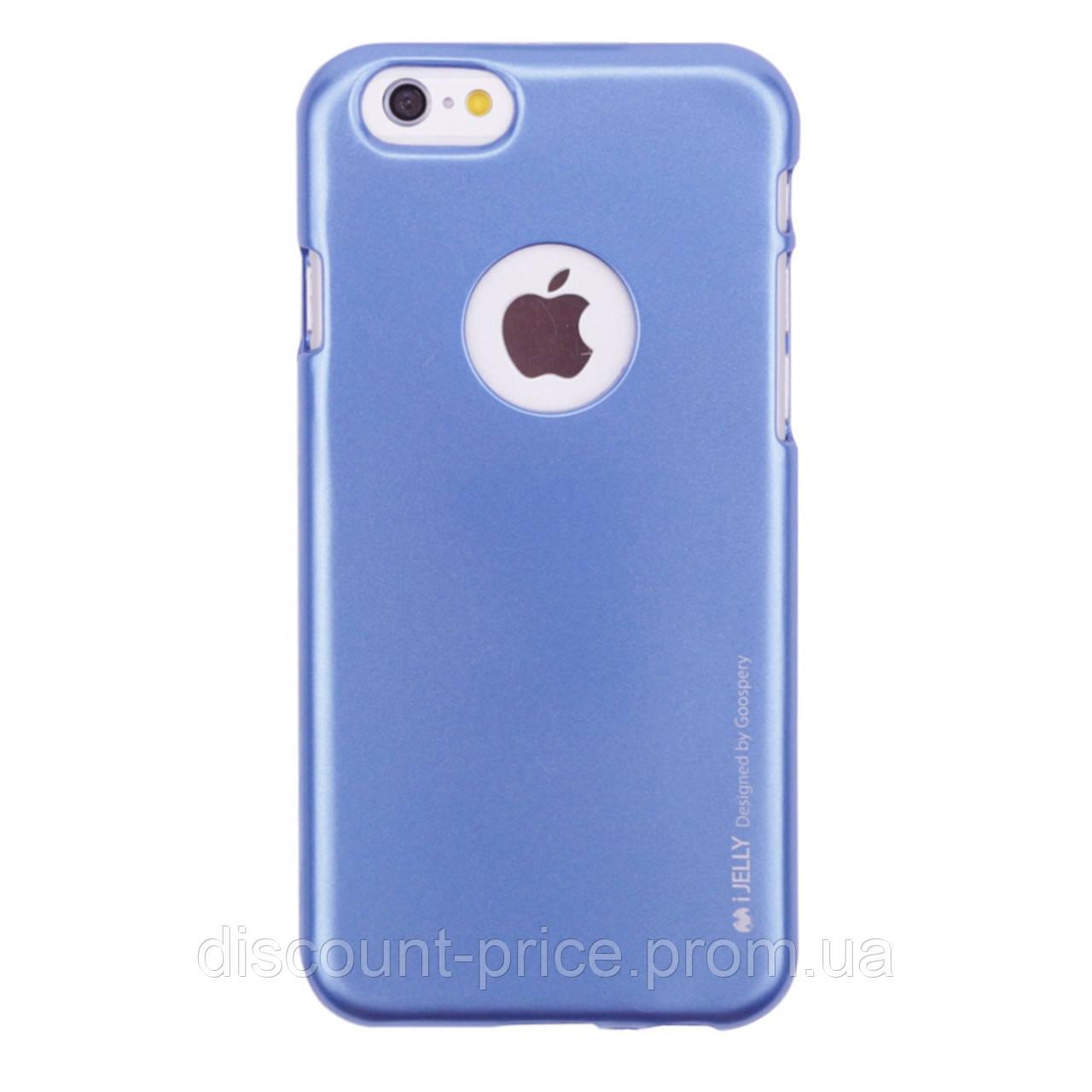 "TPU чехол Mercury iJelly Metal series для Apple iPhone 6s (4.7"") Синий (00000015011.1_50)"